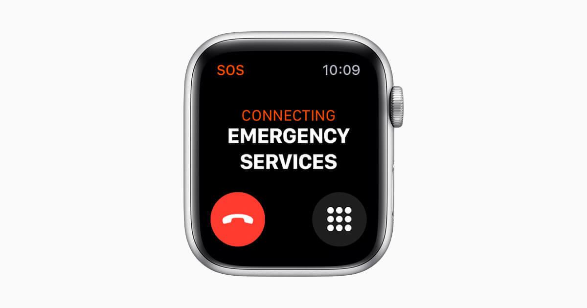 Montre PTI DATI déclenchant une alerte - Apple Watch 4